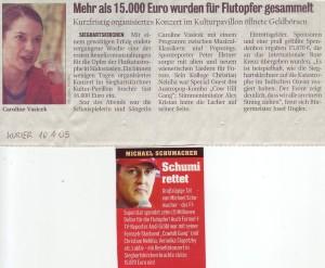 2005 Tsunami Benefiz Nachlese Kurier Sportwoche Januar